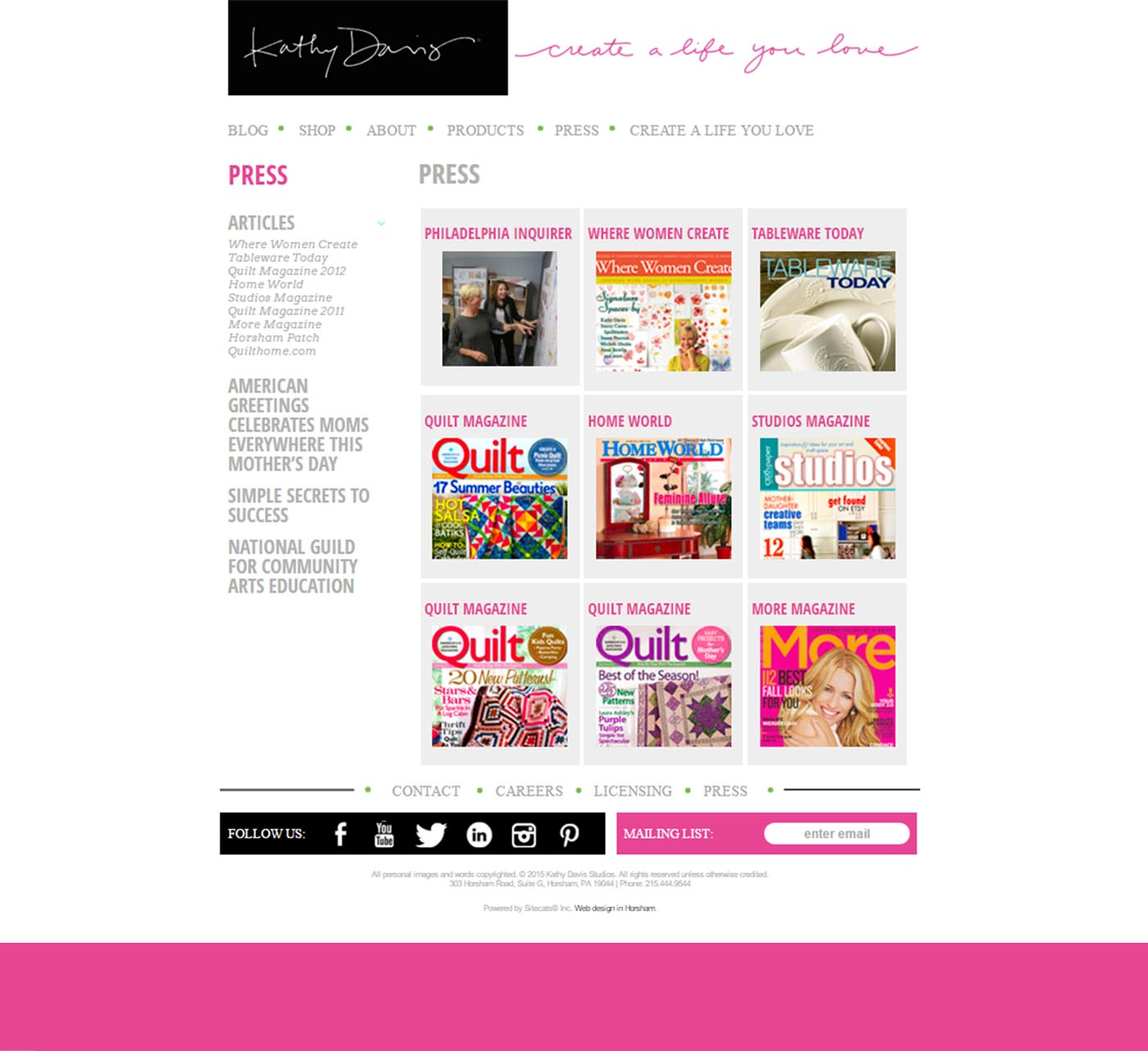 Kathy davis studio sitecats web development m4hsunfo